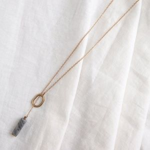 Luza Gray Marble Necklace
